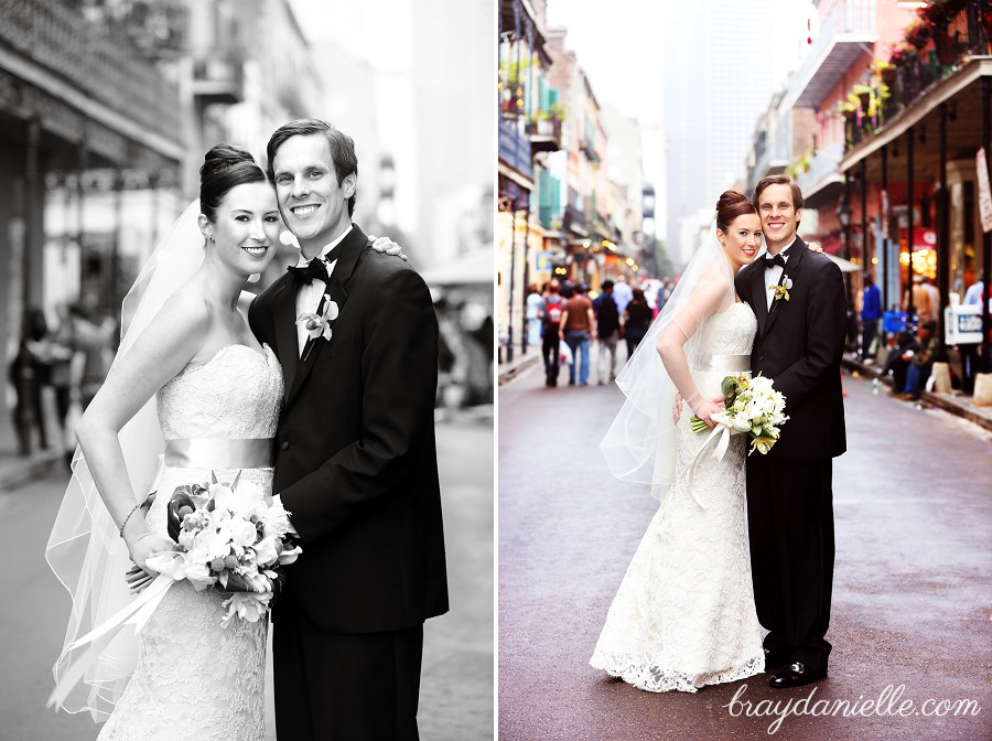 bride and groom in new orleans