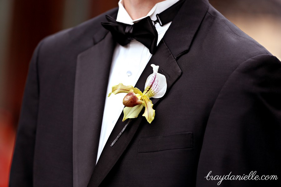 Grooms boutonniere orchid