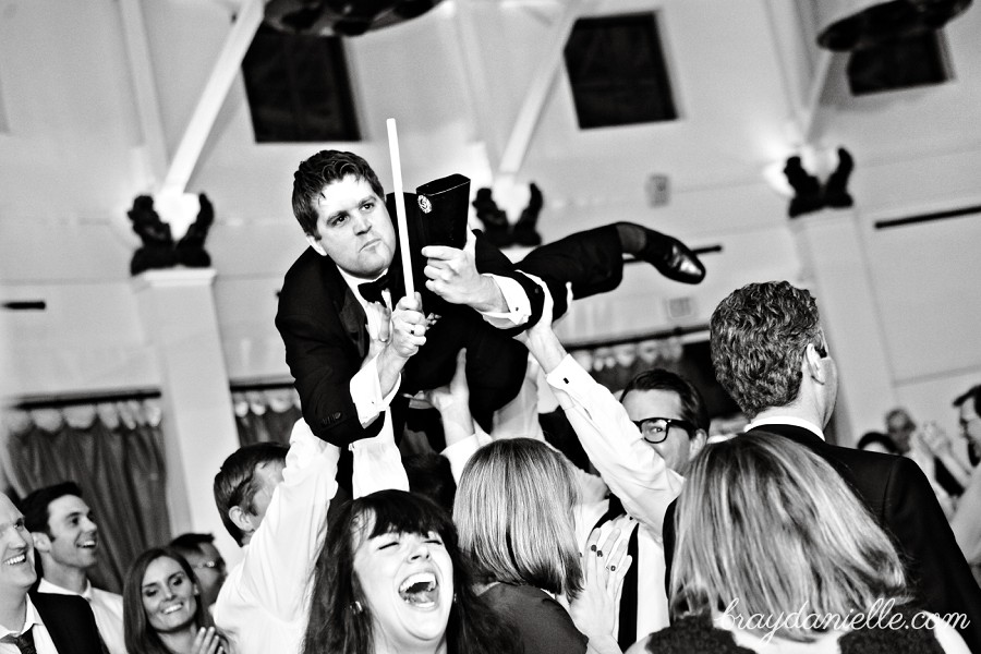 wedding guest crowd surfing, wedding by Bray Danielle Photography