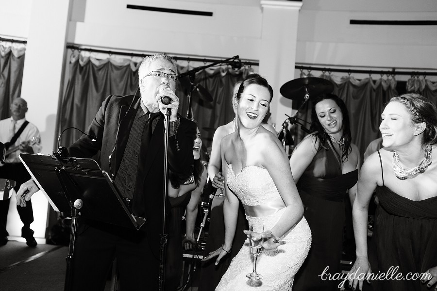 bride singing, wedding by Bray Danielle Photography