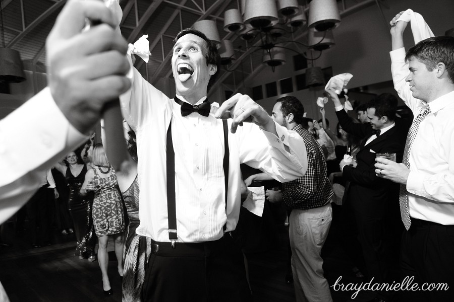 Groom during reception, wedding by Bray Danielle Photography