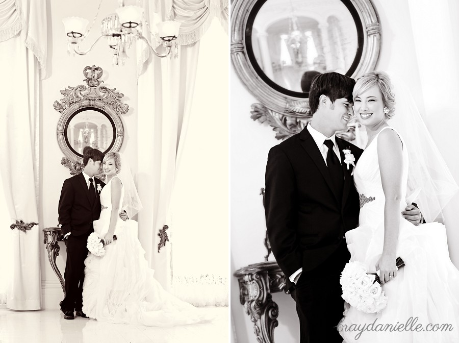 high end bride and groom portrait