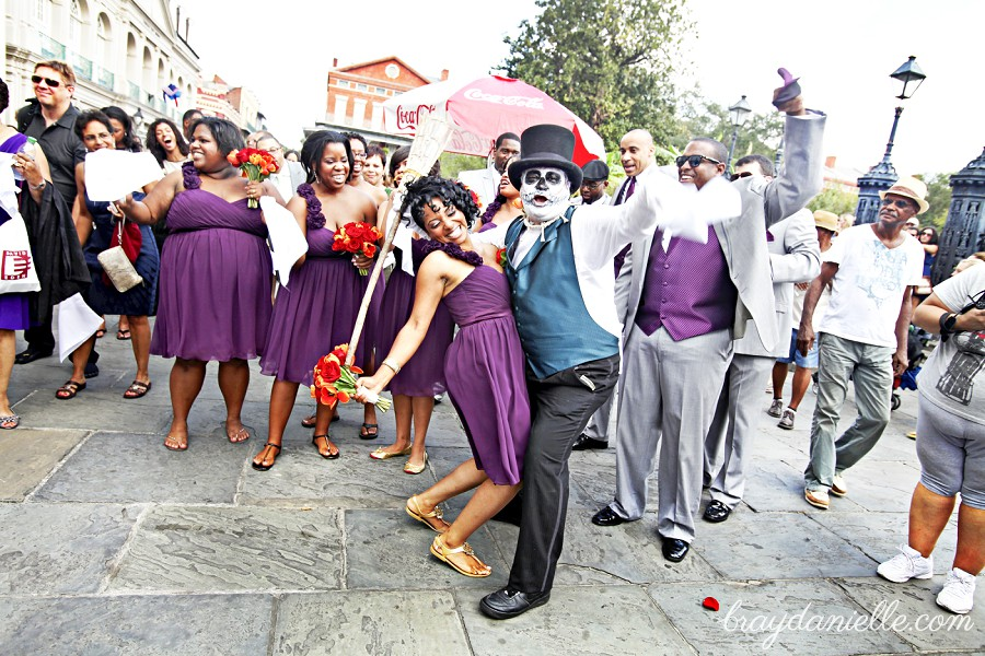 wedding party in new orleans