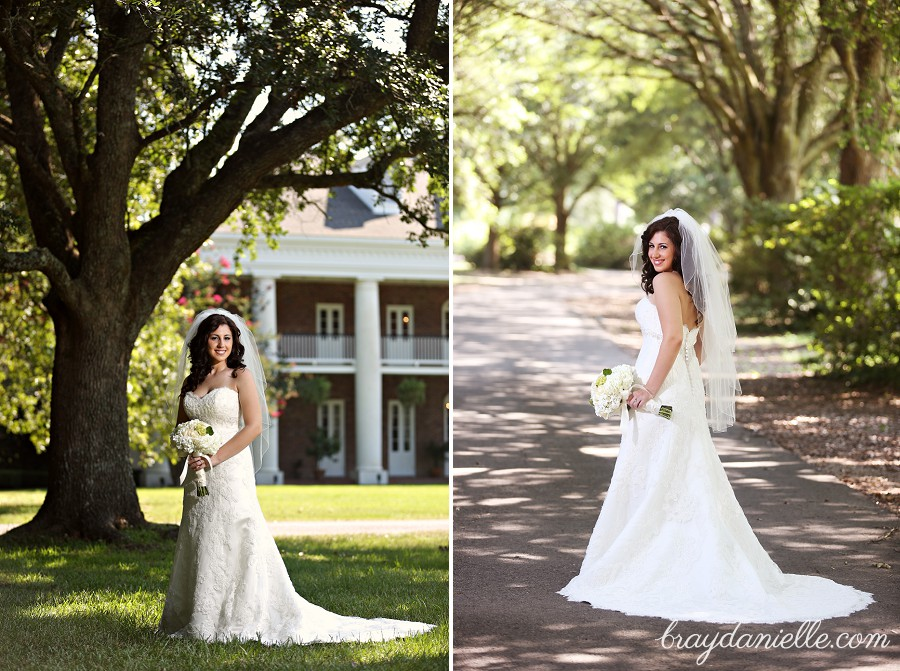 Bridal Portrait Under Tree In Front Of Plantation By Bray Danielle Photography