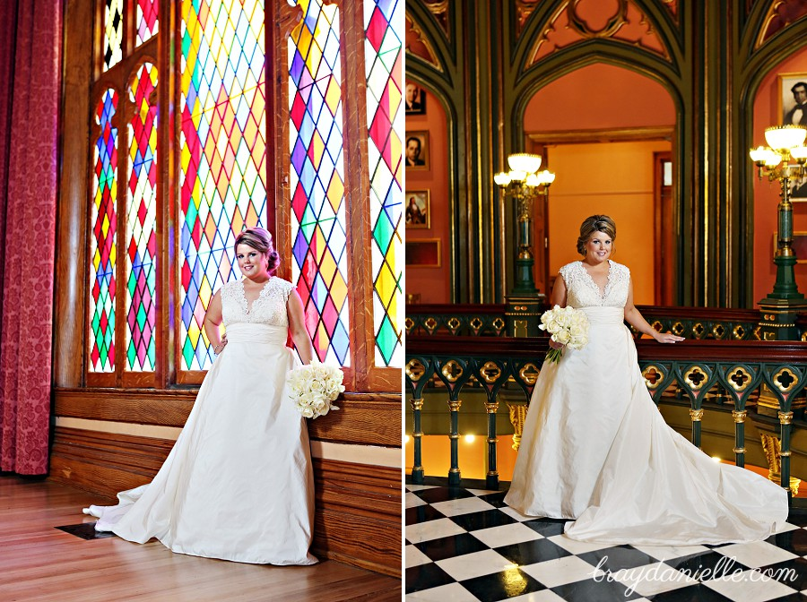 Megan's bridal portraits at the Old State Capitol in Baton Rouge, LA. - Bray Danielle ...