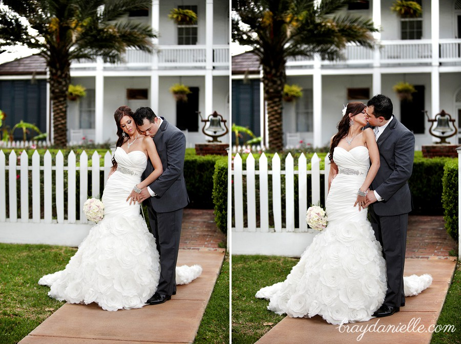 Bride and groom portraits outdoor
