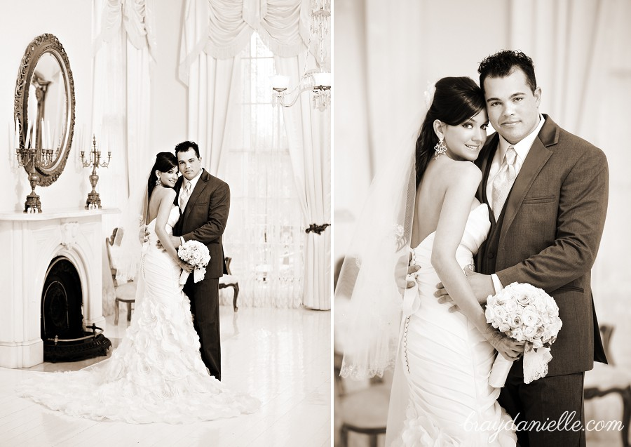 beautiful indoor bride and groom photos